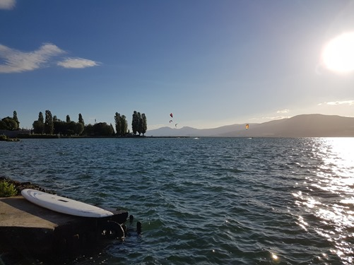 A walk along the lakeside