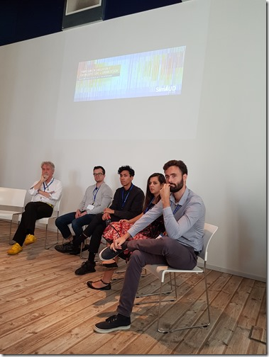 Panel discussion with Danil and Lorenzo at SimAUD 2018