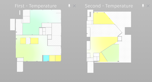 IKON first and second floor temperature