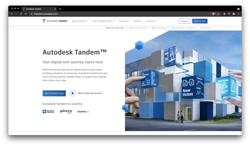 New Tandem landing page