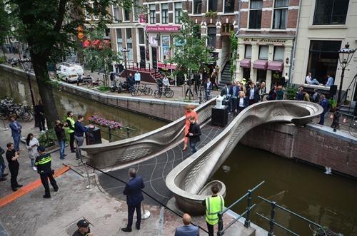MX3D Bridge Opening - Your Majesty The Queen Maxima - By Adriaan de Groot