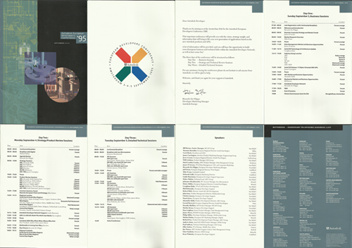 Autodesk European Developers Conference 1995 brochure