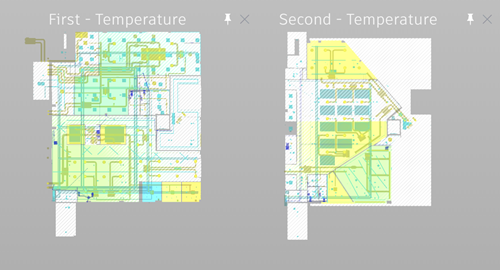 IKON first and second floor temperature, with MEP