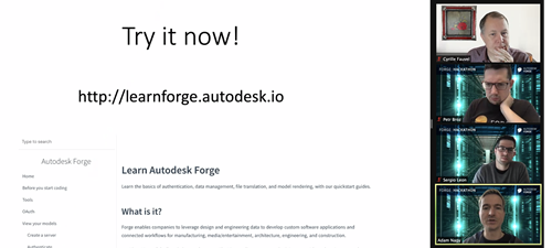 Adam introducing Forge