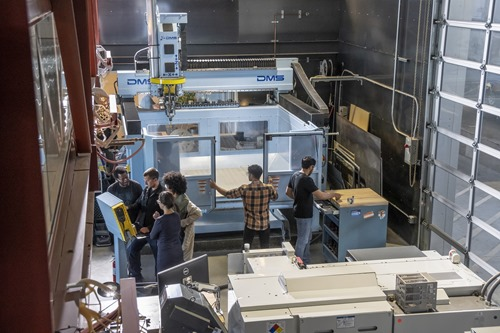 Working in the CNC Machine Shop at the Autodesk San Francisco Technology Center.