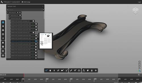 Datasheet preview for an MX3D bridge sensor in Dasher