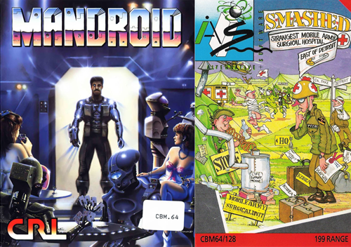 Mandroid and SMASHED cover art