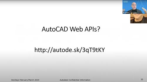 Jim Quanci discussing the possibility of AutoCAD Web APIs