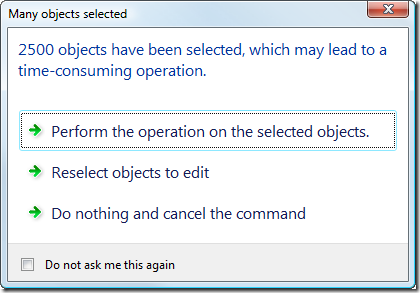 A real-world task dialog example