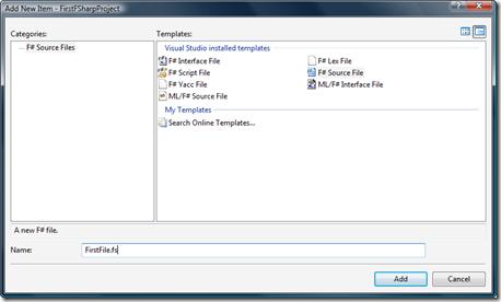 New F# file - VS 2005