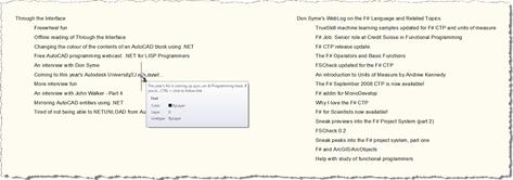 RSS feeds inside AutoCAD