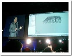 Algorithmic design prototype during Carl Bass' AU keynote