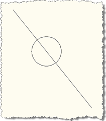 Circle anchored to line