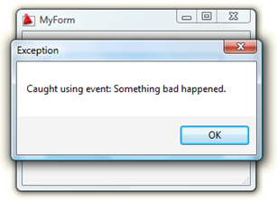 Custom event catching for modal dialogs