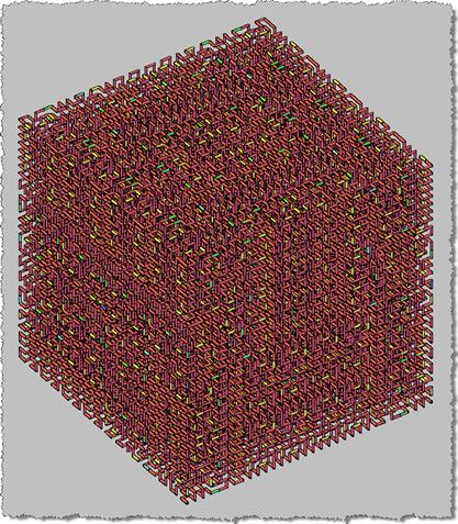 Hilbert Cube (Level 5) - Full, scary 3D