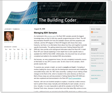 Jeremy Tammik's The Building Coder