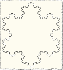 Koch snowflakes - level six
