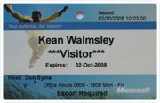 Microsoft Research visitor badge