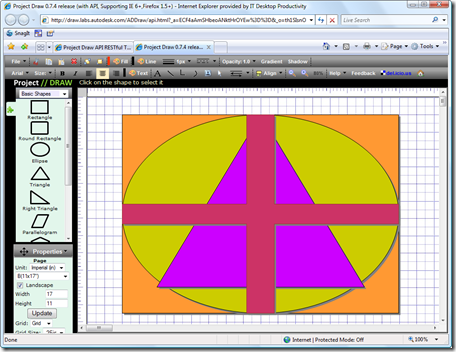 Project Draw - session with geometry
