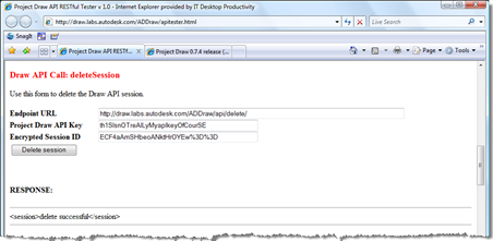 Project Draw API - deleteSession