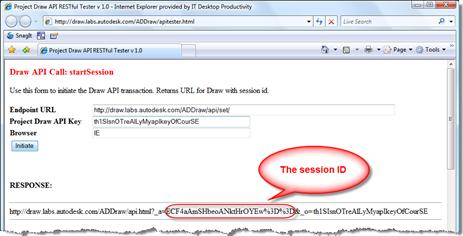 Project Draw API - startSession