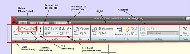 The New RibbonBar API in AutoCAD 2009 - Through the Interface