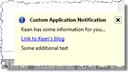 Status bar balloon notification - no border