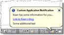 Status bar balloon notification