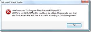 Type library import error