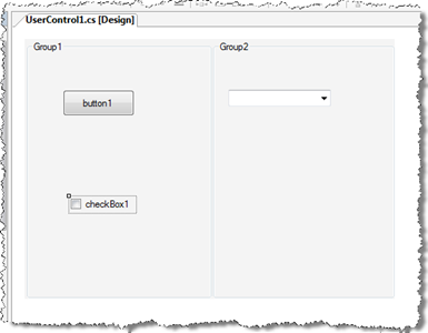 User control layout for options tab